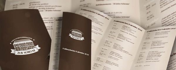 Kulinarischer Kalender 2019 zum Dowmload