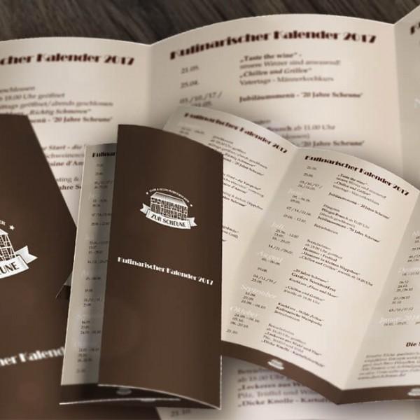 Kulinarische Kalender 2017 zum ausdrucken!