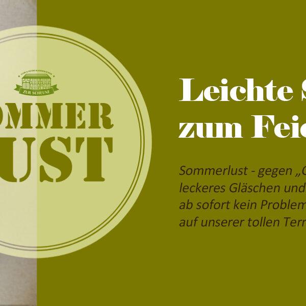 SOMMERLUST – leichte Sommerküche zum Feierabend